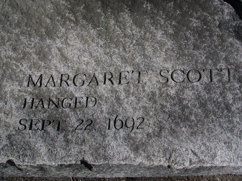 Margaret Scott, Rowley, hanged, September 22, 1692