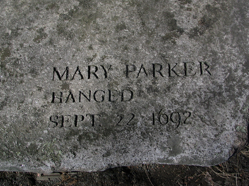 Mary Parker, Andover, hanged, September 22, 1692