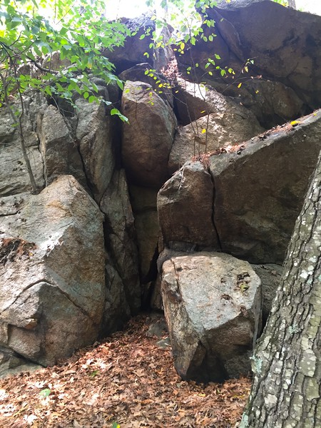The caves that Sarah and Peter Clayes fled to in 1693.