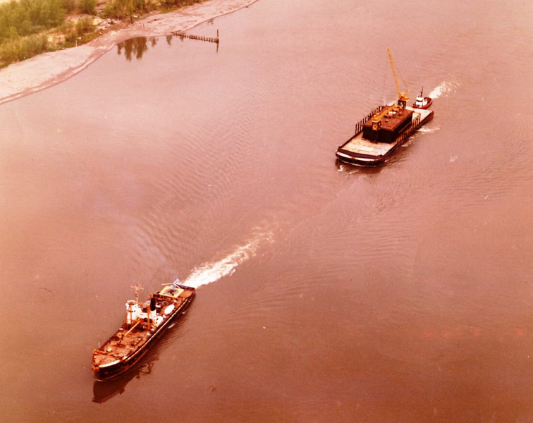 Barge Cedar,Refloated,Cargo Saved And Unloaded,Salvage Chief Towing Portland Shipyard For Repairs,