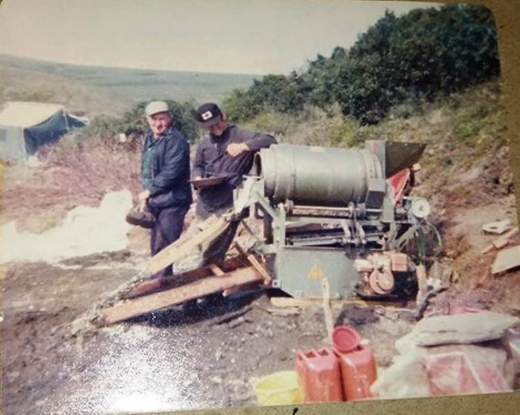 1975 Salvage Chief Reino Mattila Don Floyd Mining Gold 1975 Imuruk Basin Above Port Clarence Alaska