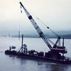 Tug Sabre,Crane Barge Buckeneer,Fred Devine Diving And Salvage,