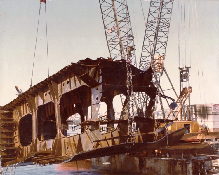 Sansinea 1977,300 Ton Section Hull Cut And Raised,Salvage Chief,Muk Muk,