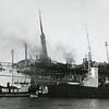 Erria,Danish Passenger Ship On Fire,1952 Columbia River,Knappton Tug Tonquin,Smith Tug Cougar,