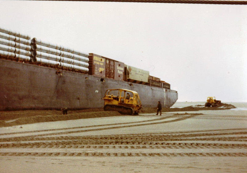 Barge Cordova,Aground Yakutat Alaska 1970,Refloated And Delivered By Salvage Chief,