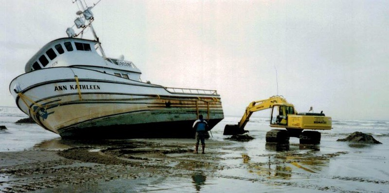 Ann Kathleen  March 1995 Klipsan Beach Wa Refloated and repaired  Bosn Don Floyd