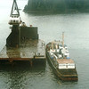 Salvage Chief,Half Barge Pulled Free And Floating Alongside Ship,