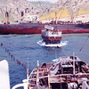 1962,Highlining Cargo From Wreck To Barge,Salvage Chief,