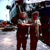 Salvage Chief 1976 San Pedro,Tanker Sansinea Job,Ron Walthers,Scott Parker,Stern Of Wreck Background,Tougher than a Ten Penny Nail,