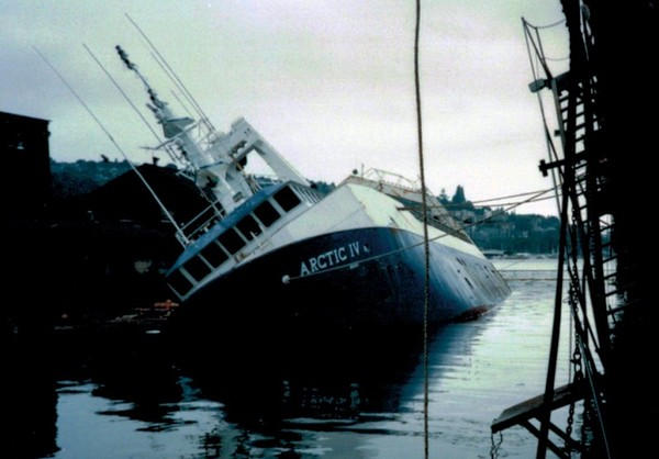 Arctic IV Later Arctic Explorer Built 1988 Salvaged 1994 By Salvage Chief Lenghtened and Resumed Fishing