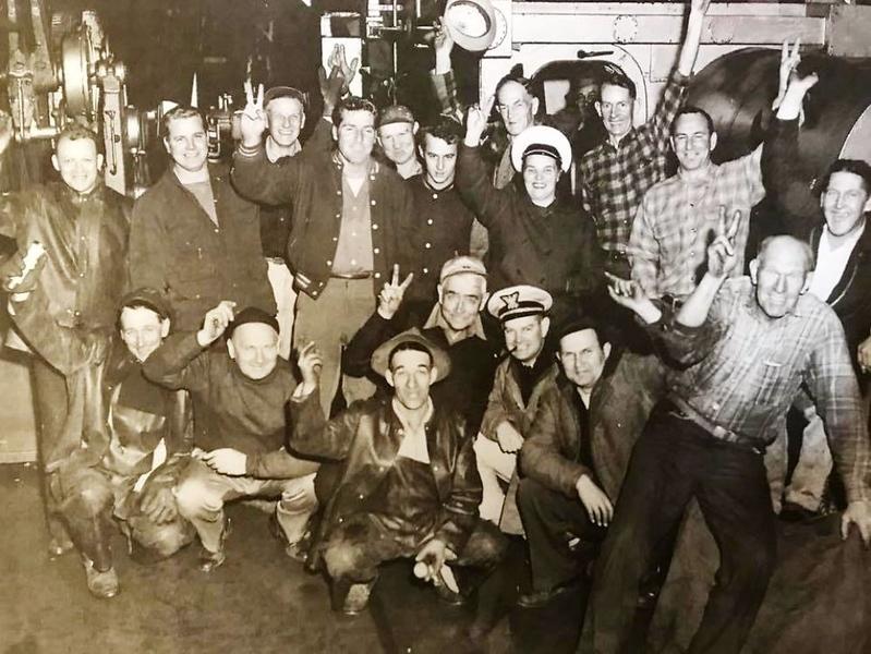 1952 Salvage Chief Crew Yorkmar Job Heard Around The World