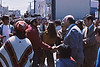 4*Sat, Apr 24, 1971<br /> People: Mayor Alioto, protestors<br /> Subject: Mayor shakes hands<br /> Place: San Francisco<br /> Activity: protest<br /> Comments:
