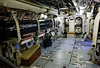 HMS Alliance torpedo room, torpedo tubes can be seen thorough the open doors