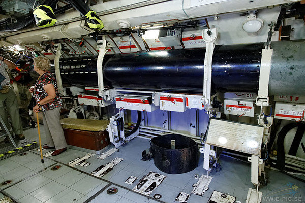 HMS Alliance torpedo room