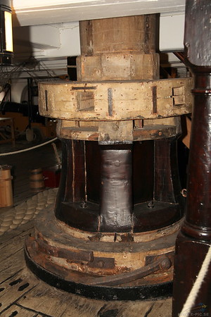 Jeer capstan (Lower Gun Deck)