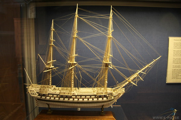 Ship made out of bones