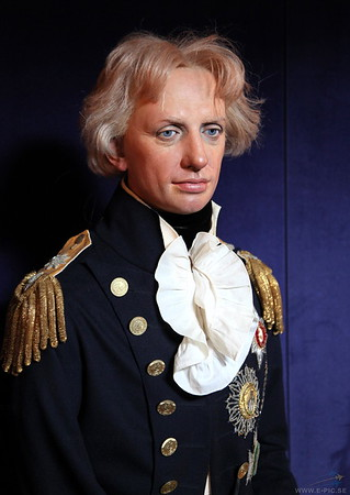 Nelson recreated as a wax doll.