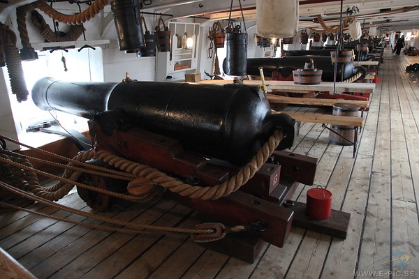 The main gun deck
