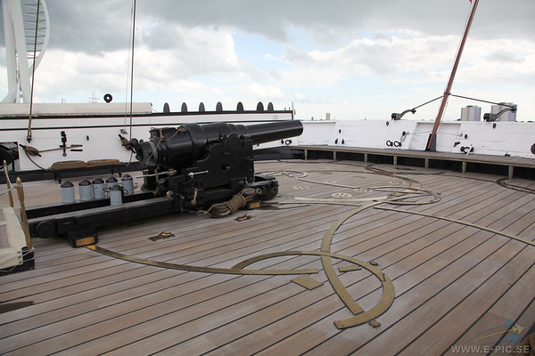 HMS Warrior stern deck