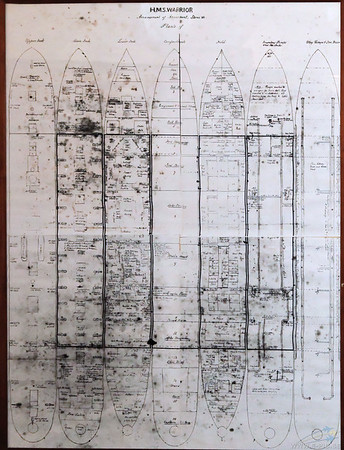 Ship plan from the gunroom