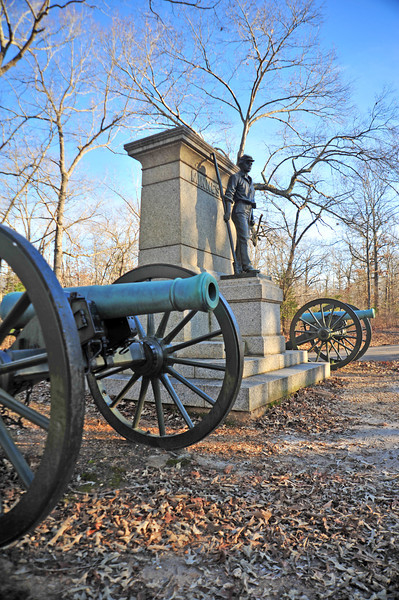 """First Minnesota battery of Light Artillery monument. This is located on the Unions left flank at the """"Hornets Nest""""."""