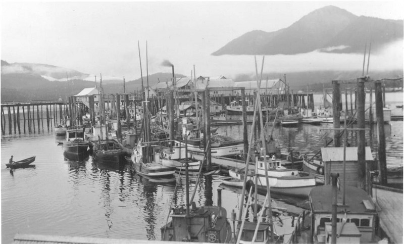 Petersburg harbor, 1929. Odin built 1914 Seattle; owners Thomas Lando.