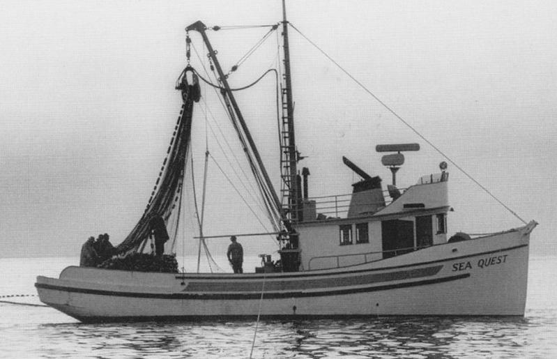 Sea Quest  Built 1957 Seattle  Mathew Svorinich  Kaino Niemi  William Thomas  Desmond Williams  Douglas   Cairns    Pic Taken Salmon Banks 1966