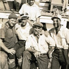 Salmon Banks Puget Sound 1938,Capt on Bridge and crew,Tom Nizich Left,Courage Jug Below,