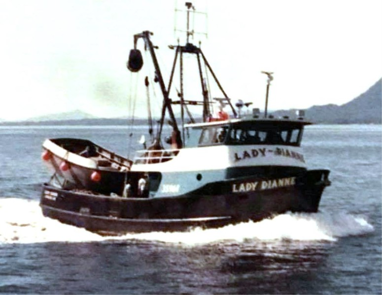 Lady Dianne  Barbara Lee  Cynthia  Rachel Colleen  Built 1975 Seattle Tommy James  Gil Mathews  Gordon James  Sr George Demmert Sr Vessel Lost 1996 Off Oregon Coast