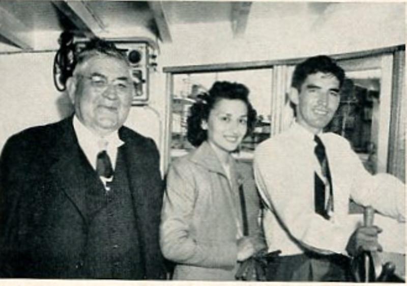 Charles Demmert,Mrs Raymond Demmert,Raymond Demmert,Aboard Evelyn Raye,
