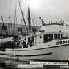 Shirley_Ray_Bob_Thomassen_Bill_Lyons_Bert_Anderson_Carl_Anderson 1950s Petersburg. Shirley was sister ship to the Loui M, both boats built 1951 Sagstad shipyards, Seattle.