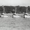 "1957 Seattle: Albatross, Arctic Tern, New Theresa; brand new fleet of Kodiak seiners built by Harold Hansen in Seattle. Turn table on New Theresa.  Arctic Tern other owner David Tarabochia.  New Theresa other owner James Toteff.  Albatross other owner Jack Tarabochia.  Part of the ""white fleet"" out of Larsen Bay, Kodiak Island, Alaska."