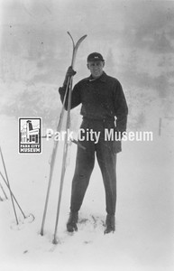Otto Carpenter, skier and jumper, ca.1940s (Image: 1984-26-3, Otto Carpenter Collection)