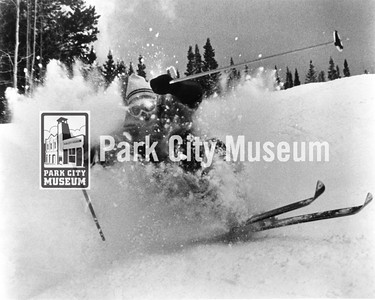 Skier at Park City Mountain Resort, ca.1980s (Image: 1999-4-123, Park City Mountain Resort Collection)