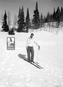 Cross-country skiers explore the area near Park City, ca.1940s (Image: 2000-17-71, Kendall Webb Collection)