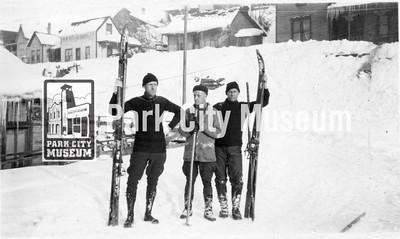 Bud Wright, Joe Holland, and Chet Jensen, ca.1940s (Image: digi-5-27, Emmett Wright Digital Collection)
