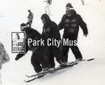 """Clown Day,"" Park City Ski Area, April 1, 1981 (Image: digi-49-22, David Hampshire Digital Collection)"