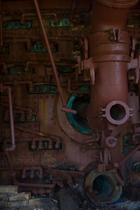 One of the spy ports where workers could spy into the furnace.