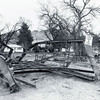 The remnants of the Nash Street bridge, looking east.   This was another bridge that required replacement.  May 1965 flood - Spearfish, SD.