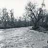 Looking north from the Grant Street bridge.  May 1965 flood - Spearfish, SD.
