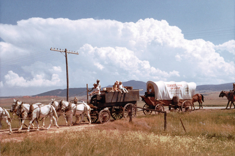 About a year after the 1965 flood in Spearfish, South Dakota native and one-time standout athlete Gene DeHaven led a 20-mule train on a 1,200 mile trip from Death Valley, California to Wessington, South Dakota.  Coming through Spearfish from Sundance, Wyoming, DeHaven and his crew would help Spearfish celebrate completion of a new bridge, replacing one that had been destroyed by the flood.