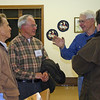 Following Linfred's presentation on the history of Spearfish, many of the audience members congregated to share stories and discuss different aspects of Spearfish history.