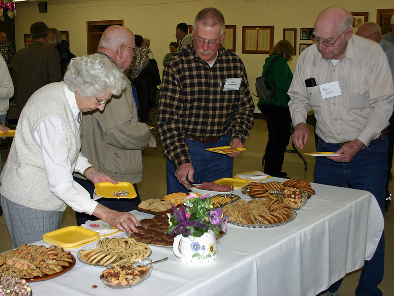Folks who don't attend meetings of the Spearfish Area Historical Society miss out on some great history.  They also miss out on some really great snacks.  Of course, volunteers make it all possible, and many of the spreads are absolutely spectacular -- as evidenced by this buffet of delectable items prepared for the April meeting of the society.