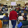 <b> December 2009 Program</b> <b><i> THE BARNS OF LAWRENCE COUNTY</i></b> As you can see in this photograph, we had a wonderful turnout for this meeting, despite freezing temperatures!  Think you recognize the back of someone's head?  Click on the photograph to see a larger image.
