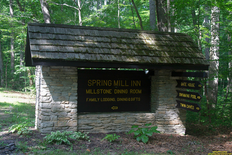 "Spring Mill State Park<br /> <br /> Sign to the Inn<br /> <br />  <a href=""http://www.in.gov/dnr/parklake/2968.htm"">http://www.in.gov/dnr/parklake/2968.htm</a><br />  <a href=""http://en.wikipedia.org/wiki/Spring_Mill_State_Park"">http://en.wikipedia.org/wiki/Spring_Mill_State_Park</a>"