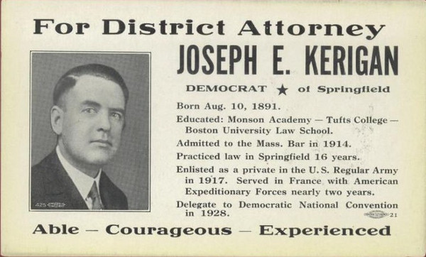 Springfield Election Postal Card