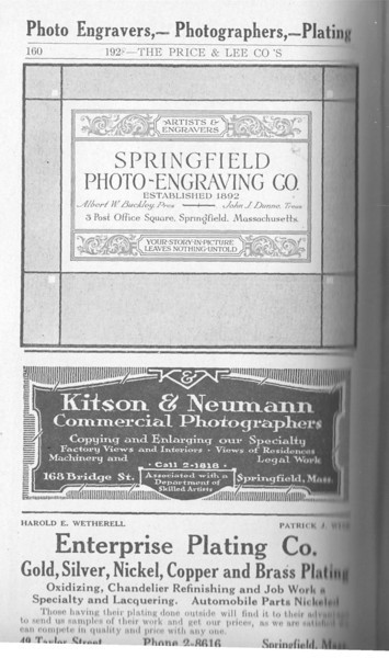 Springfield Directory Ads 1928 133