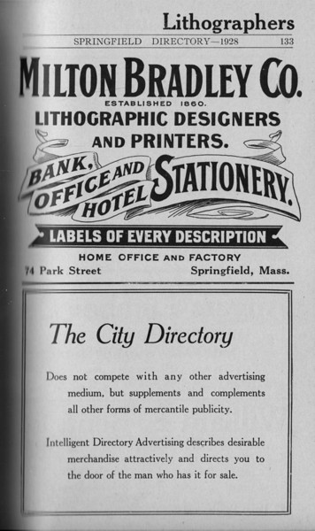 Springfield Directory Ads 1928 106