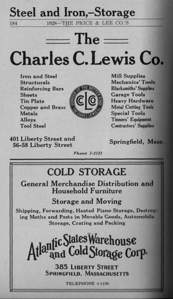 Springfield Directory Ads 1928 157