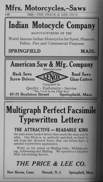 Springfield Directory Ads 1928 121